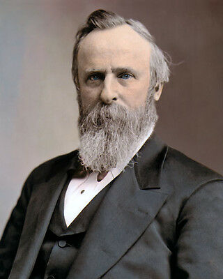 """RUTHERFORD B HAYES 19th US PRESIDENT  CIVIL WAR 8x10"""" HAND COLOR TINTED PHOTO"""