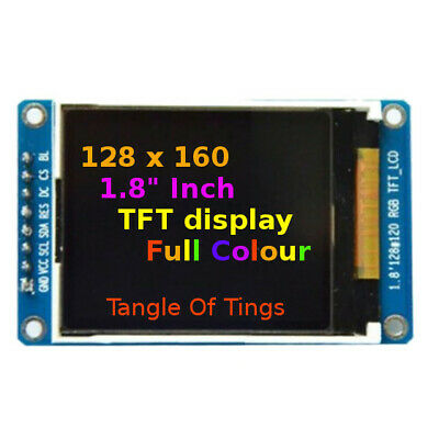 "128x160 TFT SPI Full Colour 1.8"" Inch Display Module ST7735 Arduino RGB Screen"
