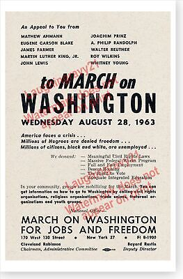 1963 Martin Luther King Jr. March On Washington For Jobs And Freedom Poster