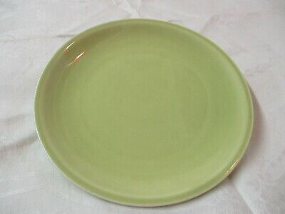 Vintage Paden City Pottery Bread & Butter Plate Greenbrier lime green E52