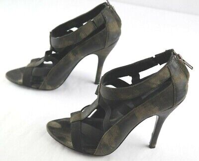 bb5185b957 Elizabeth and James E-Sky Pumps Womens Size 6.5 Distressed Leather Caged  Heels