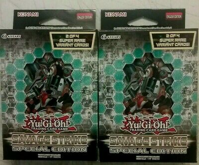 Yugioh Savage Strike SPECIAL EDITION Lot Of 2 Mini Boxes - FREE PRIORITY SHIP