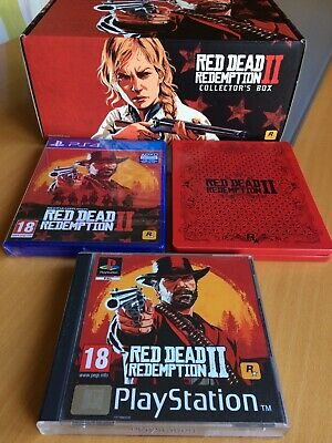 Red Dead Redemption 2 PS4 GAME, STEELBOOK, PS1 Retro Case + Collectors Box, NEW.