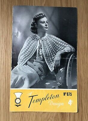 A Vintage Knitting Pattern for a Lady's Dressing Jacket - 1940s