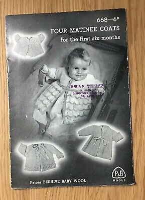 A Vintage Patons & Baldwin Knitting Booklet for Matinee Coats