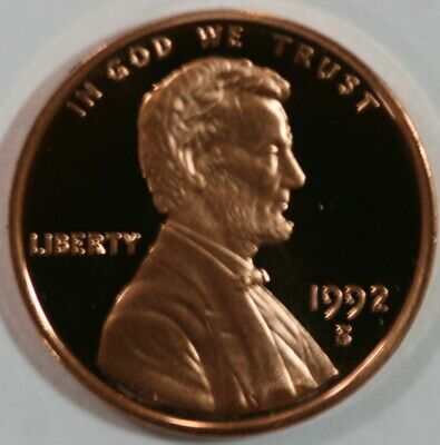 1992 S Lincoln Memorial Cent Gem DCAM Proof Penny  US Coin