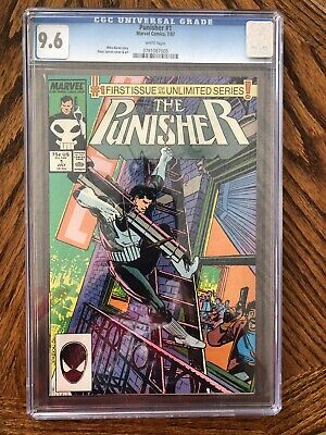 Marvel Comics Punisher #1 1987 Cgc 9.6 White Pages 1St Issue In Unlimited Series