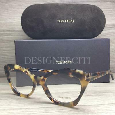 4954e09175 Tom Ford TF5456 5456 Eyeglasses Matte Shiny Blonde Tortoise 056 Authentic  52mm