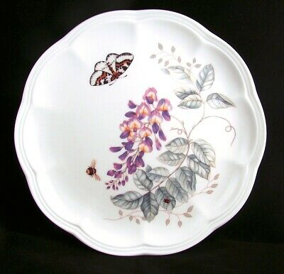 "Lenox BUTTERFLY MEADOW ""Eastern Tailed Blue"" Accent Luncheon Plate NEW READ"