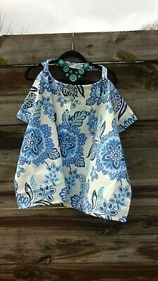 Wire Nursing Cover-up / Breastfeeding Cover Blue and White Floral