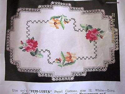 "Vintage Myart Tablecloth - ""chintz"" - New & Unused, Ready To Complete"