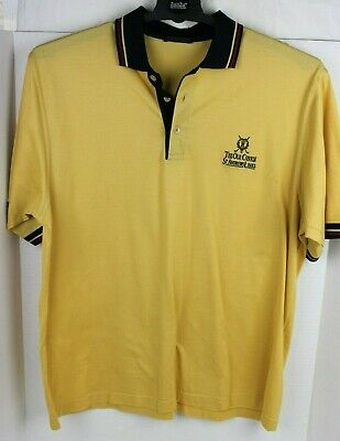 ST ANDREWS LINKS The Old Course Tartan Collection Golf Shirt LARGE Made in Italy