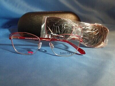 47612253c6a New Women s Takumi Eyeglass Frame with Polarized Magnetic Clip TK 1107 Red  51-18