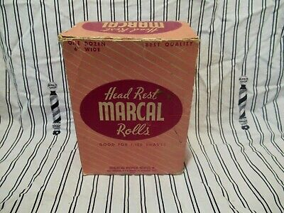 Vintage Marcal Barber Chair Head Rest Tissue Rolls Box