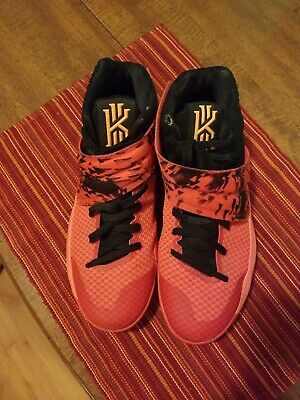 new arrivals 90920 a80d3 Nike Kyrie 2 Inferno Bright Crimson Atomic Orange-Black 819583 680 Size 10  Used