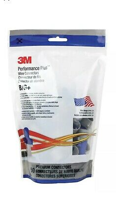 3M B/G+ Performance Plus Premium Blue with Gray Wire Connector 50/Pouch