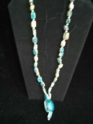Egyptian Faiecne Scarab Amulet / Revival Glazed Necklace Heirogyplh Necklace