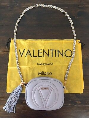 04b28a1a93e Valentino by Mario Valentino Nina Leather Crossbody Bag V9301 Lavender NWT
