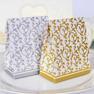 Ribbon Wedding Favours Party Gift Candy Paper Box Cookie Candy Bags 10pcs hot