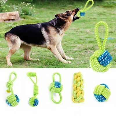 Pet Dog Tough Strong Chew Knot Toy Pet Puppy Healthy Teeth Cotton Rope 5 Style *