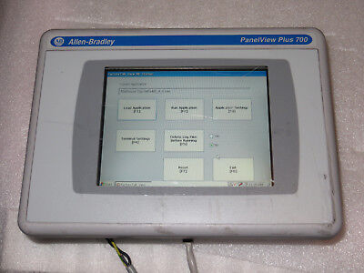 Allen Bradley PanelView Plus CE 2711P-T7C4D6 Color Touch, 2010 Used Tested