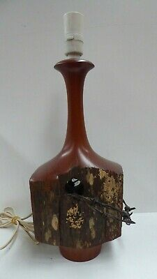 Australian National Trust Gallery Wood Turned Lamp Base Redgum Post Barbed Wire