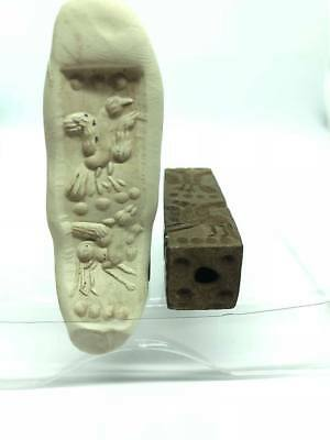 Rare!!Ancient Unique Pegasus & Phoenix Seal Intaglio Roman Stamp Stone Wonderful
