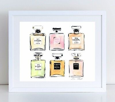 0aba67891aa1 Chanel Perfumes Fashion Illustration Coco Unframed Art Print Canvas or Paper