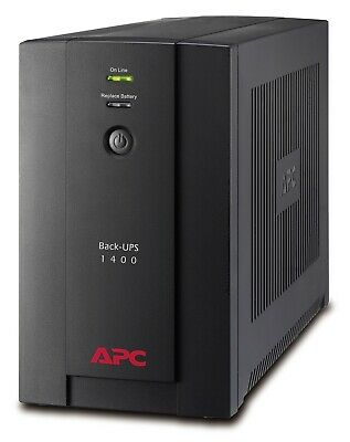 APC Power Saving Back UPS 1400VA Uninterruptible Power Supply Surge Protector