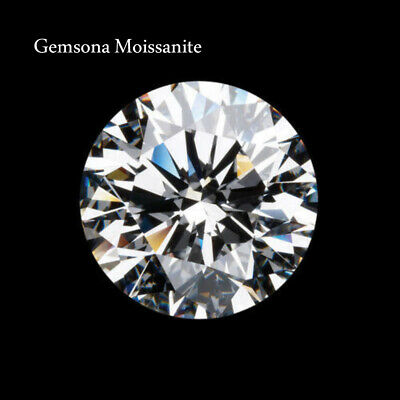 Loose Moissanite G-H WHITE COLOR 3MM TO 12MM ROUND CUT VVS1 GRADE Loose Gemstone