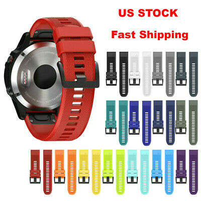 22mm Silicone Strap Compatible With Quick Release Wrist Band for Garmin Fenix 5