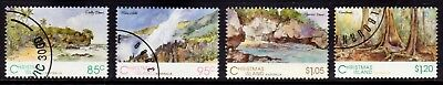 1993 Christmas Island Scenic Views Set of 4, Fine Used