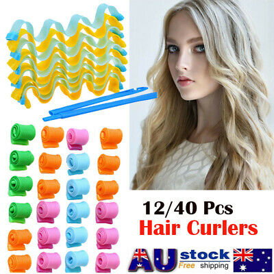 40X Leverage Curler Formers Spiral Style Rollers No Heat Magic Hair Curling 50CM