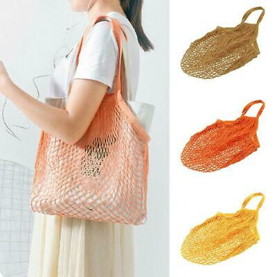 Mesh Net Shopping Bags Cotton Eco Friendly Tote Foldable Reusable Grocery Fruits