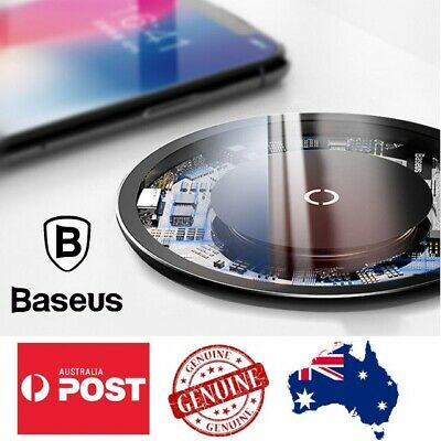 Wireless Charger Qi Fast Charging Baseus for iPhone X 8 XS XR Samsung S10 S9 10W