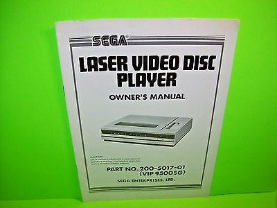 Sega LASER VIDEO DISC PLAYER Owners Arcade Game Manual 200-5017-01 VIP 9500SG