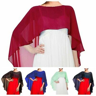 Womens Ladies Bolero Shrug Chiffon Cardigan Top Wedding Capes Bridal Shawl Wraps