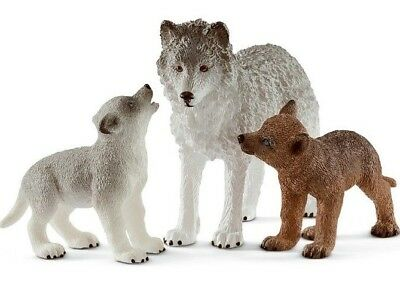 NEW Schleich Wild Wolf mother + Pups Life Zoo Nature Wolves NEW - 2019 BUY NOW