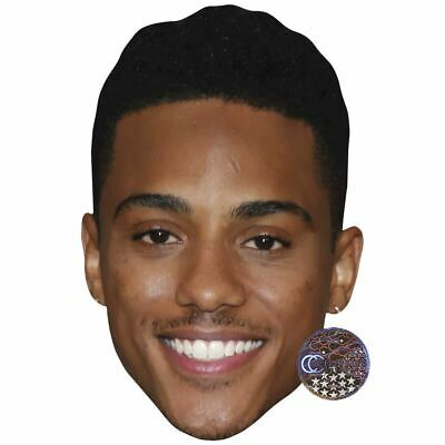Smile Flat Card Face Keith Sweat Celebrity Mask