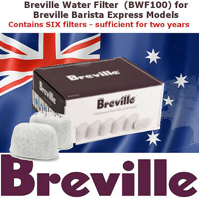 Breville Barista Express - Water Filters (BWF100) x 6 (2 Years)