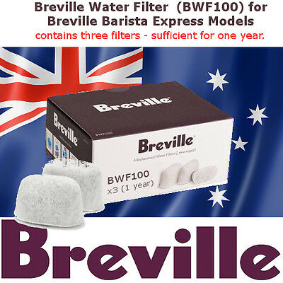 Breville Barista Express - Water Filters (BWF100) x 3 (1 Year) - Unboxed