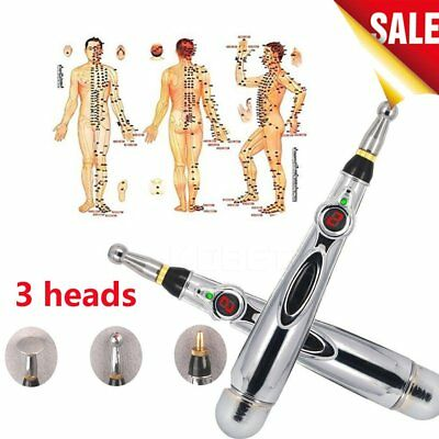 Acupuncture Electric Body Head Massage Pen Laser Therapy Lcd Stimulator H8