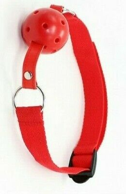costrittivo Morso gag ball traspirante sadomaso red harness bondage fetish sexy