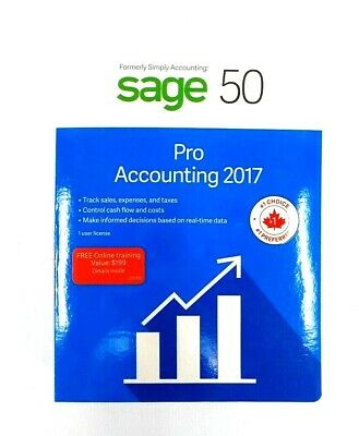 Sage 50 Pro Accounting 2017 Model (P221700CAPR) Canadian Version #8019