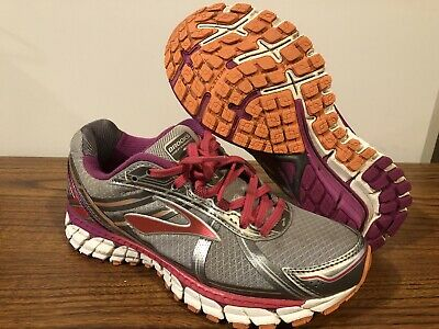 bb5ff66a4e7 Brooks Defyance 9 Womens Size US 7.5 Silver Charcoal Paradise Pink Running  Shoes
