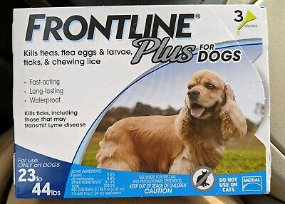 Frontline Plus Flea,Tick, and Lice Control for 23 to 44 Pound Dogs