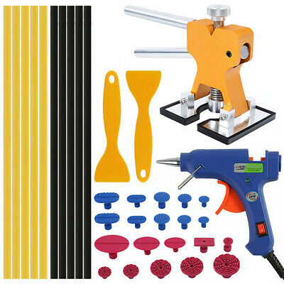 Car Paintless Dent Removal Puller Lifter Repair Tools Glue Gun Tabs Shovel Kit