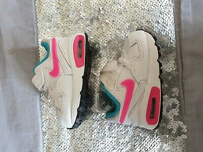New  Baby Girls Nike Air Max  Trainers Size 2.5 Eur 18.5  Bnwt