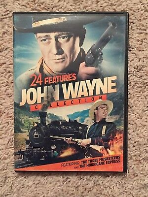 John Wayne Collection 24 Features Family Action Adventure Western Films DVD Set