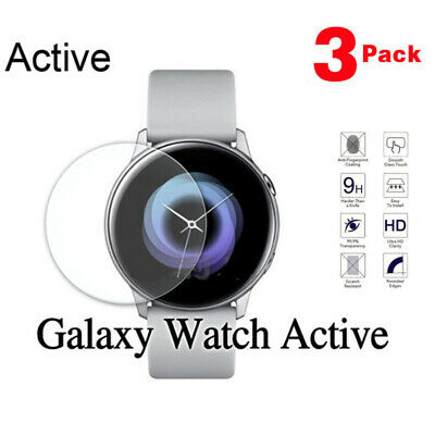 3PACK For Samsung Galaxy active Watch Protective Tempered Glass Screen Protector